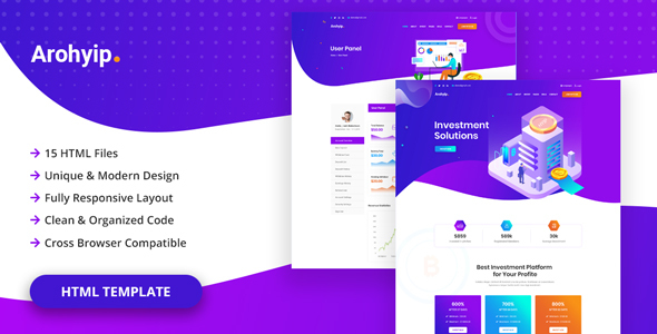 Arohyip - HYIP Investment Business HTML Template