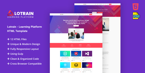 Lotrain - Online Teaching HTML Template