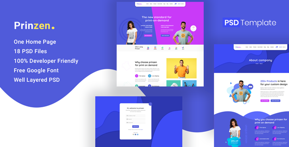 Prinzen - Print On Demand PSD Template