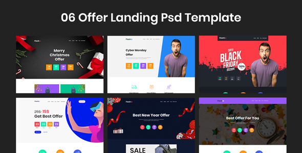 Flashio - Offer Landing Page PSD Template