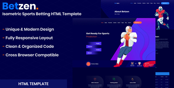 Betzen - Isometric Sports Betting HTML Template