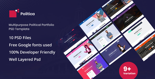 Politica - Multipurpose Political PSD Template