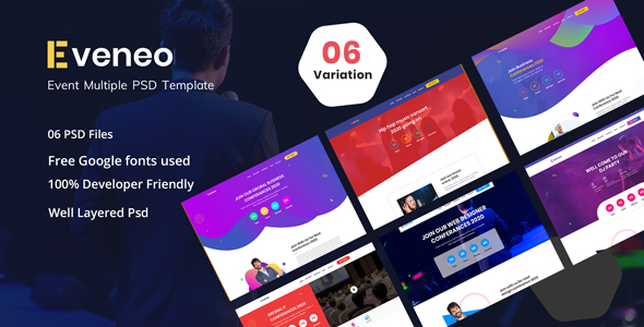 Eveno - Multipurpose Event PSD Template