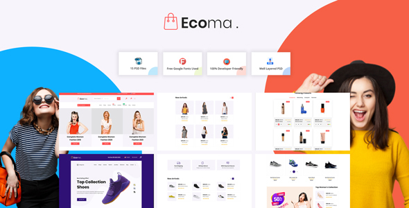 Ecoma - eCommerce PSD Template