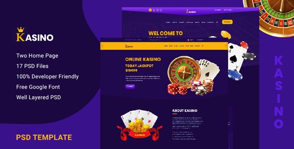 Kasino - Casino PSD Template