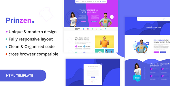 Prinzen - Print On Demand HTML Template