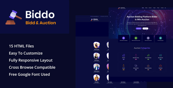 Biddo - Bid & Win Auction HTML Template