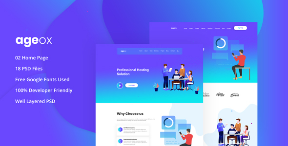 Ageox - Creative Agency PSD Template