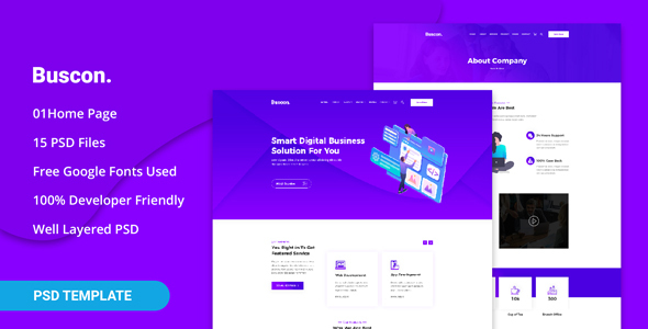 Buscon - Business Agency PSD Template