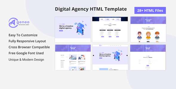 Ageneo - Digital Agency & Portfolio HTML5 Template
