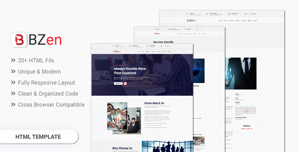 BZen - Neumorphic Business Template